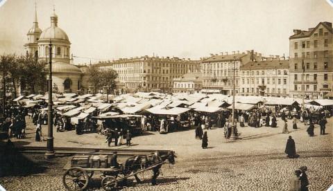 Неизвестный фотограф, Покровский рынок на Покровской площади. 1900-е гг..