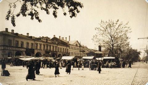 Неизвестный фотограф, Андреевский рынок на Васильевском острове. 1900-е гг..