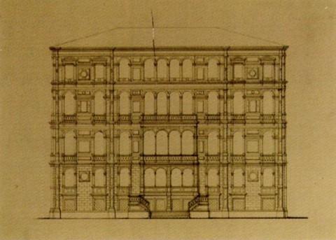 Боссе Г. Э., Проект дома Тарасовой. 1848.