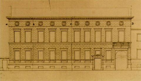 Проект перестройки дома княгини Е. П. Салтыковой.