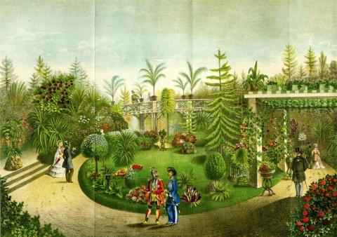 Третья публичная выставка Российского общества садоводства. 1860.