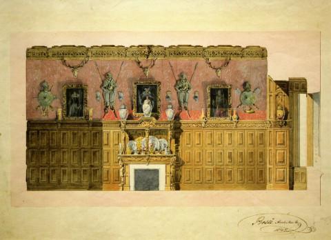Боссе Г. Э., Проект отделки Кабинета на даче княгини Е. П. Салтыковой. 1842.