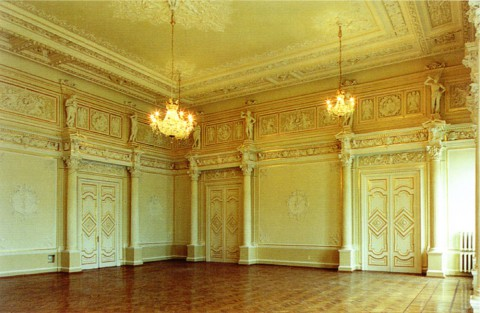 Дом князей Салтыковых. Большой зал.
