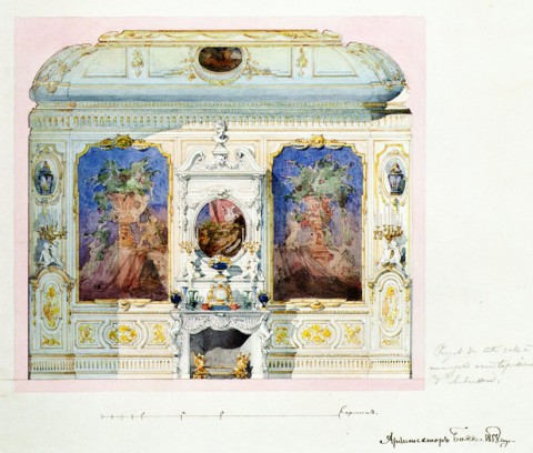 Боссе Г. Э., Проект отделки Французской столовой. 1858.
