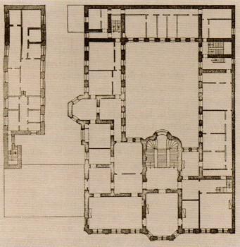 План бельэтажа особняка князя Л. В. Кочубея.
