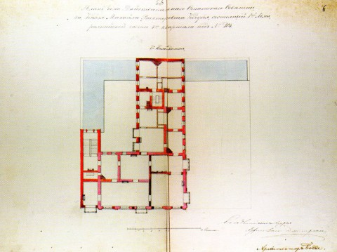 Боссе Г. Э., Проект перестройки особняка М. В. Кочубея. 1853.