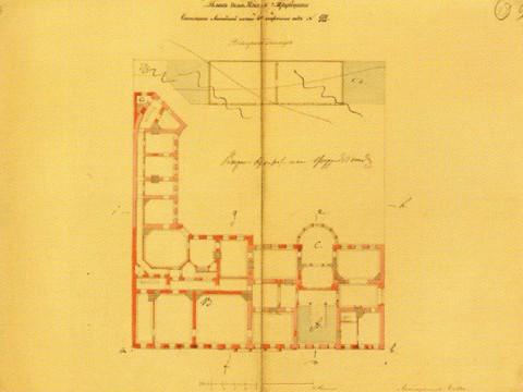 Боссе Г. Э., Проект перестройки дома князя П. Н. Трубецкого. 1855.