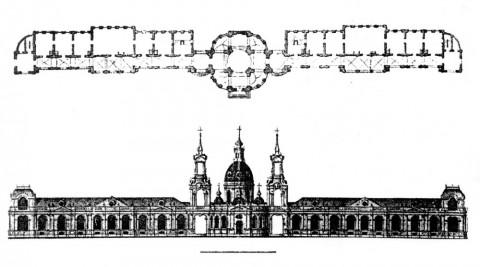 Трезини П. А., Проект католической церкви (?) в Санкт-Петербурге. 1740-е.