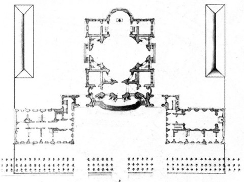 Трезини П. А., Проект католической церкви в Санкт-Петербурге. 1740-е.