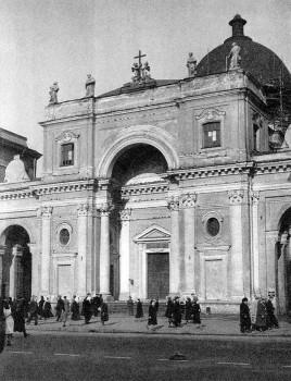 Фасад католического храма св. Екатерины. 1959.