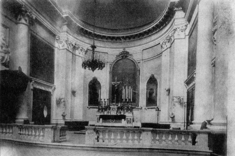 Алтарная часть храма до перестройки. кон. XIX в..
