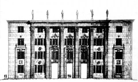 Проект главного здания ЦНИИ им. акад. А. Н. Крылова. 1937.