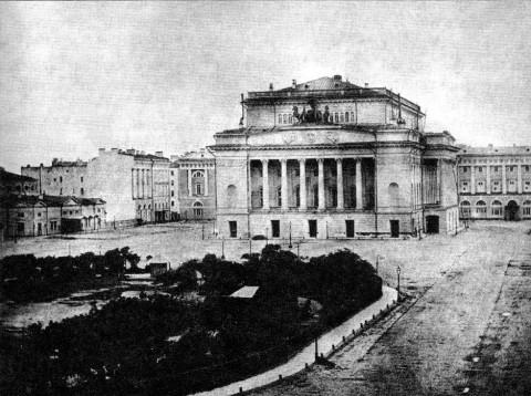 Площадь перед Александринским театром. ок. 1860-х.