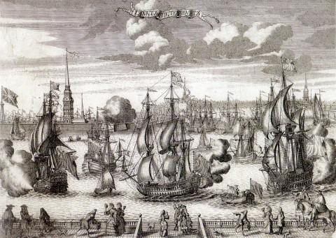 Зубов А. Ф., Вид Петербурга. 1727.