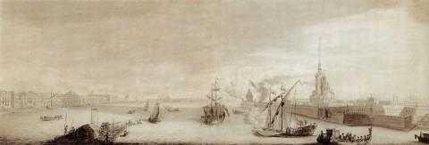 Махаев М. И., Вид Петербурга. 1759-1760.