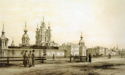 Перро Ф. В., Смольный монастырь. 1840-1850-е гг..