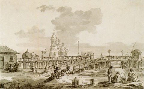 Воробьёв М. Н., Тучков мост. кон. 1810-х гг..