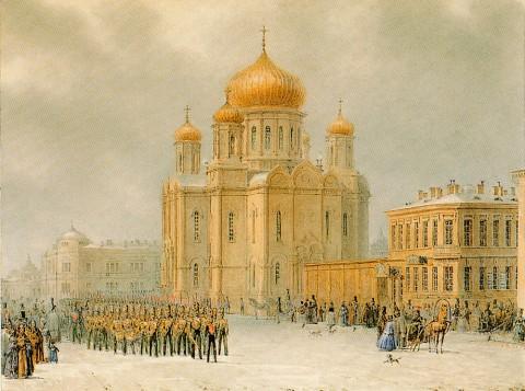 Садовников В. С., Парад перед Введенским собором. не ранее 1842 г..