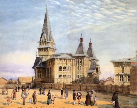 Бенуа Альб. Н., Лютеранская церковь святой Марии на Петербургской стороне. 1881.