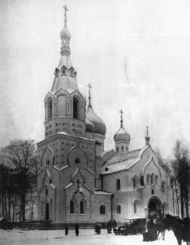 Неизвестный фотограф, Церковь Покрова Пресвятой Богородицы на Громовском кладбище. 1910-е гг..