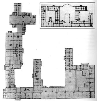 Растрелли Ф. Б., План деревянного Зимнего дворца. 1754.