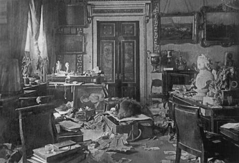 Штейнберг Я. В., Комната Зимнего дворца после штурма. 27.10.1917.