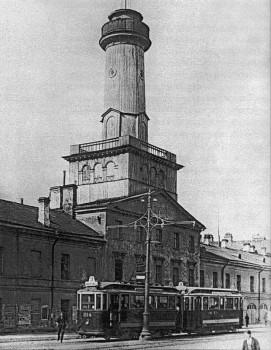 Деревянная пожарная каланча на Загородном проспекте. до 1925 г..
