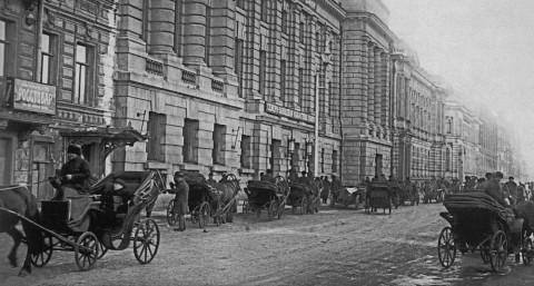 Главный фасад Северо-западной областной конторы Государственного банка. 1923 г..