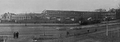 Казьмин, Панорама строительства здания Московского районного совета на Международном проспекте. 29.11.1932.