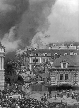 Сэккэ А., Пожар на фабрике «Люкс» в Апраксином дворе. 04.09.1934.