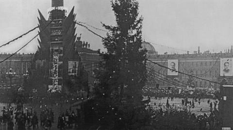 Сэккэ А., Новогодний детский базар на площади Урицкого. янв. 1937.