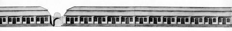 Большой деревянный Гостиный двор. 1740-е.
