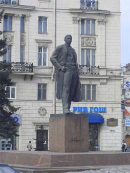 Памятник М. Горькому. 2006.03.18.