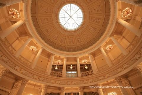 Купол Ротонды в Мариинском дворце. 2009.03.05.
