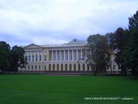 Садовый фасад Михайловского дворца. 2006.06.03.