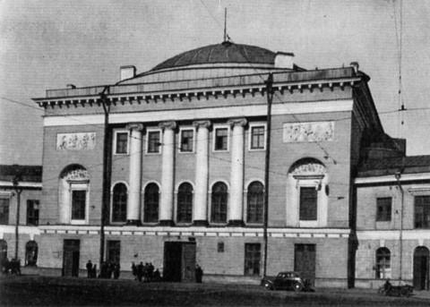 Здание церкви Спаса Нерукотворного образа на Конюшенной площади.