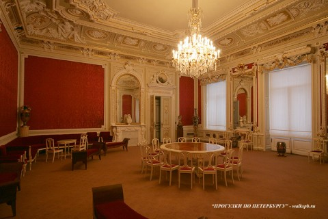 Зал в Аничковом дворце. 2009.12.26.