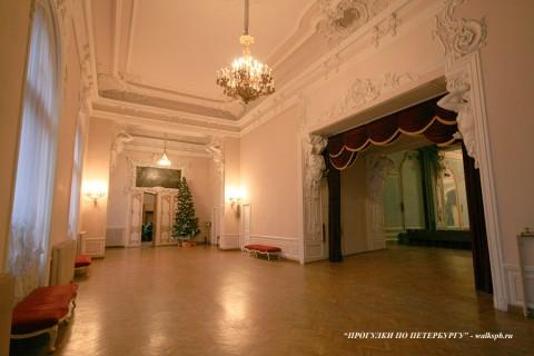 Зал во дворце Белосельских-Белозерских. 2008.12.21.