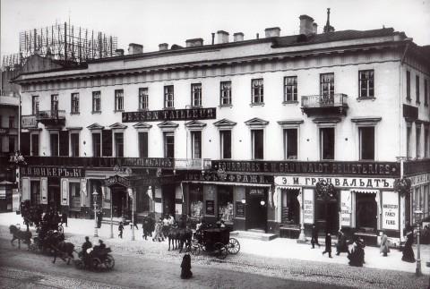 Булла К. К., Фасад дома 22 по Невскому проспекту. Начало 1900-х годов.