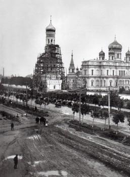 Фотоателье Буллы, Вид на Забалканский проспект и Воскресенский Новодевичий монастырь. 1900-е годы.