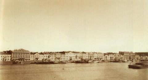 Бианки И. К., Панорама Английской набережной. 1860-е - 1870-е годы.