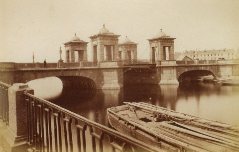 Неизвестный фотограф, Старо-Калинкин мост через Фонтанку. 1880-е годы.