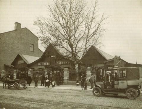 Неизвестный фотограф, Сампсониевский рынок. 1910-е годы.