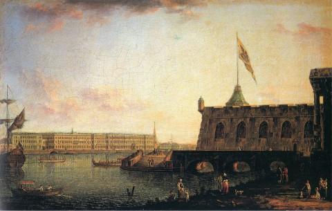 Алексеев Ф. Я., Вид Петропавловской крепости и Дворцовой набережной. 1799 год.