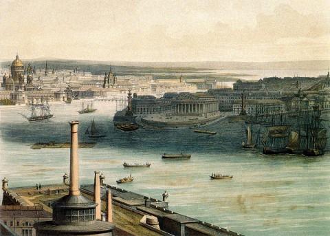 Башелье Ш. К., Панорама города Санкт-Петербурга, лист 5. 1853 год.