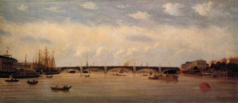 Верещагин П. П., Вид на Литейный мост в Петербурге. 1870-е годы.