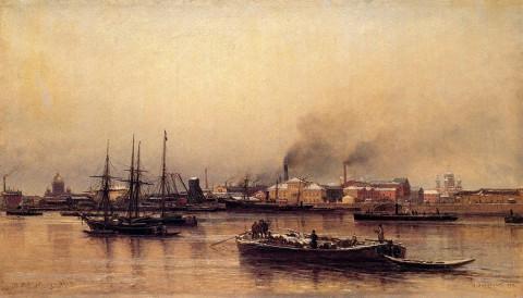 Беггров А. К., Набережная Невы. 1876 год.