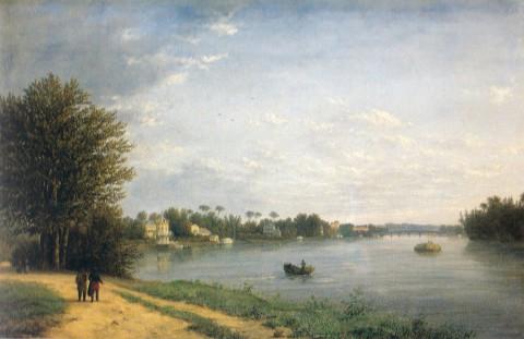 Чернецов Н. Г., Вид на Елагин остров в Петербурге. Вторая половина 1820-х годов.