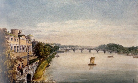 Кольман К. И., Вид на Каменноостровский мост. 1830-е годы.