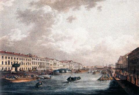 Беггров К. П., Фонтанка. 1820-е годы.